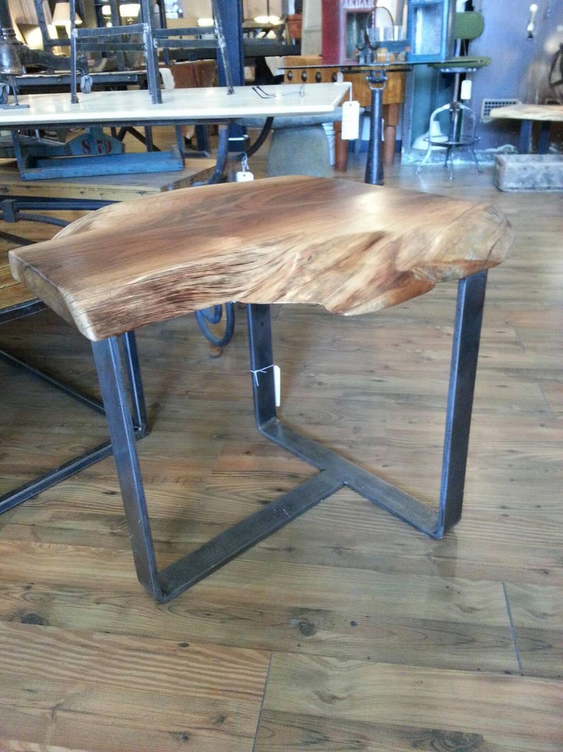 Live edge walnut end table image 0