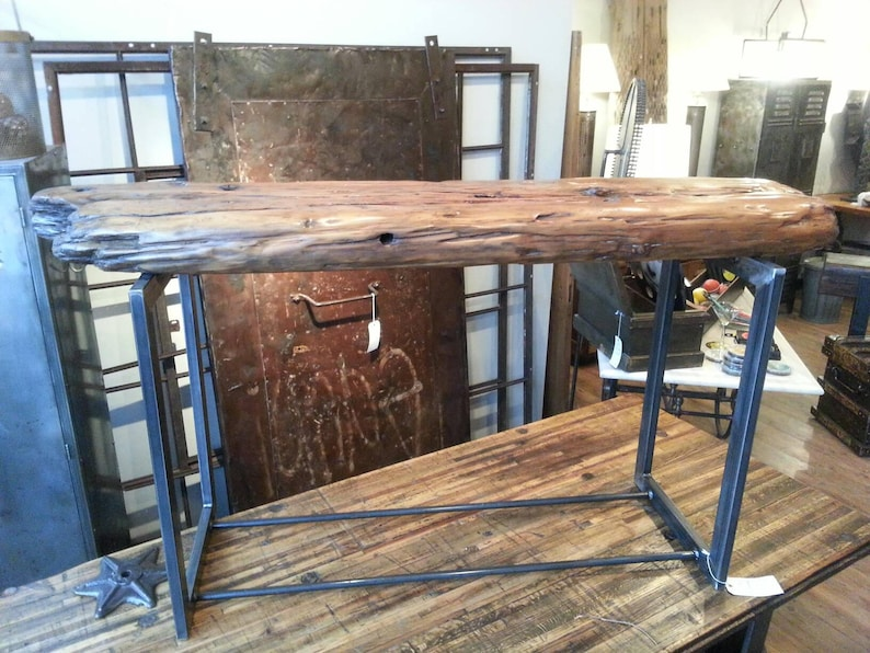 Salvaged wood from Lake Michigan console table image 0
