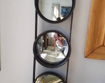 Vintage industrial cake pan mirror