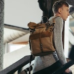 Wax Canvas Backpack Business 15 Inch Waxed Leather Laptop Rucksack Man Bag, Waterproof Weekend Backpacks for Woman