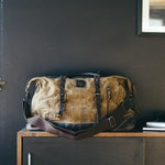 Waxed Canvas Holdall | Brown Leather Holdall Bag | Holdall | Waxed Holdall Bag | Travelling Holdall | Camel Holdall Leather Bag / Duffel Bag