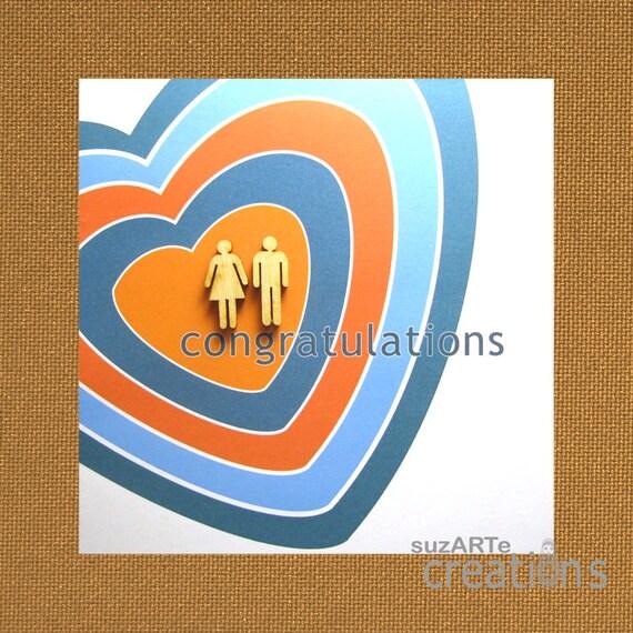 Moderne Hochzeitskarte Gleichgeschlechtliche Hochzeit Etsy