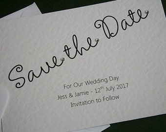10 Personalised Wedding 'Save the Date' Cards