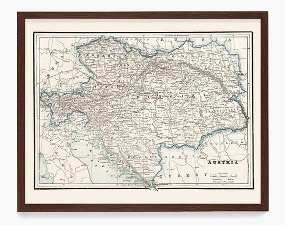 Austria Map, Vintage Austria, Austria Art, Austria Wall Art, Austrian Map, Europe Map, European Map, Europe Art, Vienna, Vienna Map, Map Art