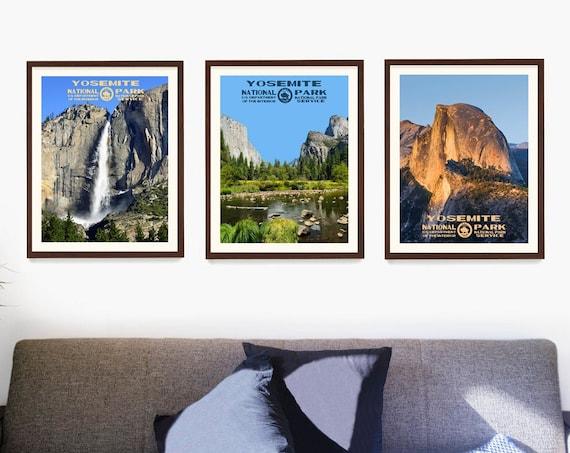 Yosemite National Park Poster, National Park Wall Art, WPA Poster, Yosemite Gift, California Decor, California Home, National Park Gift