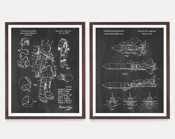 Space Patent Art - NASA Poster - NASA Art - Space Shuttle Patent - Astronomy - Outer Space - Astronaut - Astronaut Patent - Space Art