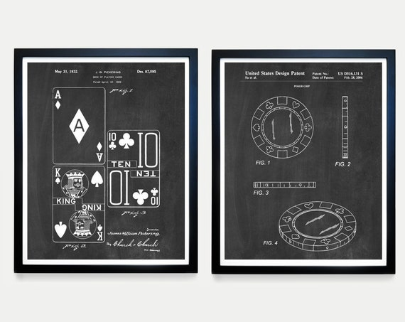 Poker Patent Art - Poker Poster - Cards - Playing Cards - Casino - Poker Gift - Poker art - Blackjack - Card Art - Card Wall Art - Game Art