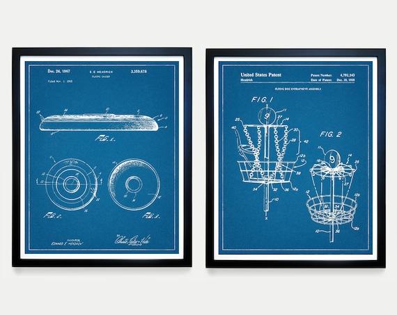 Frisbee Patent Art - Frisbee Golf - Disc Golf - Disc Golf Patent Art Poster - Disc Patent - Disc Art - Frisbee Poster - Frisbee Wall Art