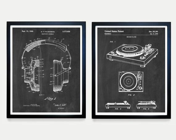 Stereo Patent - Turntable Patent - Audio - Record Player - Music Poster - Music Patent - Vinyl Art - Vinyl Patent - Music Wall Art - Decor