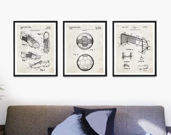 Soccer Patent Posters, Soccer Wall Art, World Cup Poster, Soccer Player Gift, Soccer Ball Patent, Soccer Gift, Kids Sports