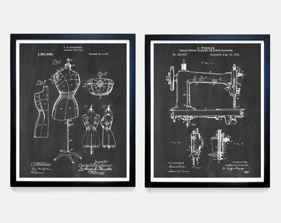 Sewing Patent Art - Sewing Machine Poster - Sewing Poster - Dress Form - Fashion Poster - Fashion Designer - Dress - Dress Maker  Sewing Art