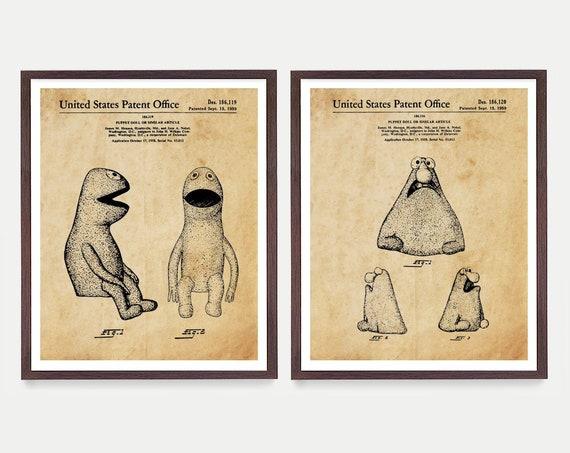 Jim Henson - Muppet Patent - Muppets - Sesame Street - Sesame Street Patent - Jim Henson Art - Jim Henson Poster - Kermit - Muppet Art