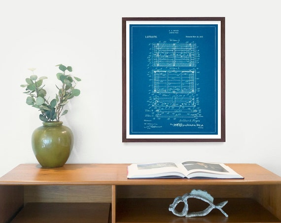 Lobster Trap Poster - Lobster Art - Lobster Patent - Lobster Poster - Lobster Decor - Ocean - Nautical Art - Beach House - Lobster Print