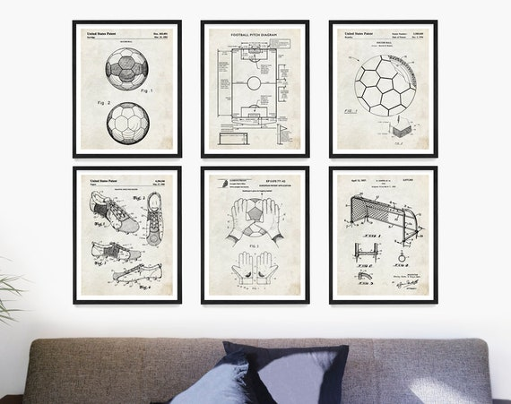 Soccer Patent Wall Art, Soccer Poster, Soccer Gift, Soccer Ball Patent, Soccer Field Poster, Soccer Pitch, Football Wall Art, Soccer Player