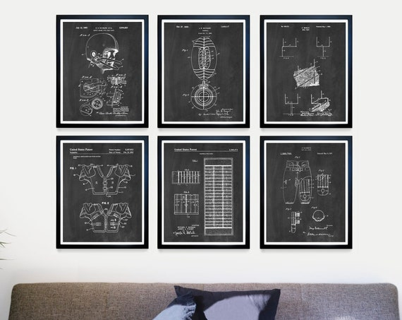 Football Patent Art - Football Decor - Football Art - Football Wall Art - Football Poster - Football Patent Poster - Football Gift