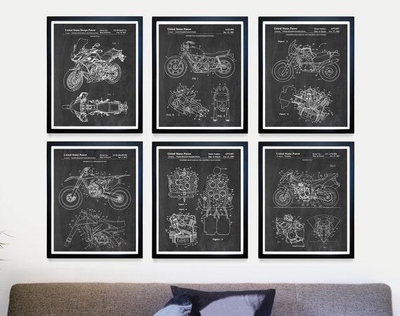 Yamaha Motorcycle Patent Art - Yamaha Poster - Yamaha Art - Yamaha Motorcycle - Motorcycle Art - Motorcycle Patent Art - Motorcycle Poster