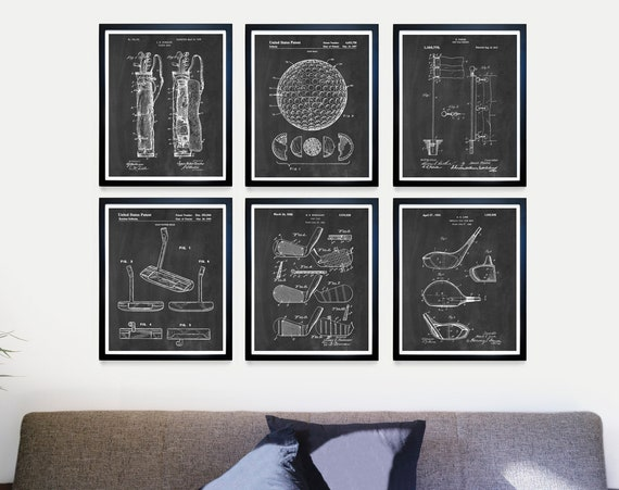 Golf Patent Art, Golf Patent, Golf Art, Golf Poster, Golf Wall Art, Golf Ball Patent, Driver Patent, Golf Gift, Golf Ball, Dad Gift