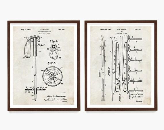 Ski Patent Posters, Skiing Art, Skiing Wall Art, Skiing Patent, Ski Boot, Ski Pole, Ski Lodge, Ski Decor, Skiing Patent, Ski Art, Ski Gift