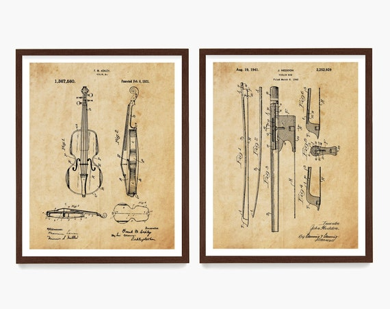 Violin Patent Posters, Violin Art, Violin Poster, Violin Wall Art, Orchestra, Classical Music Art, Classical Music Poster, Fiddle