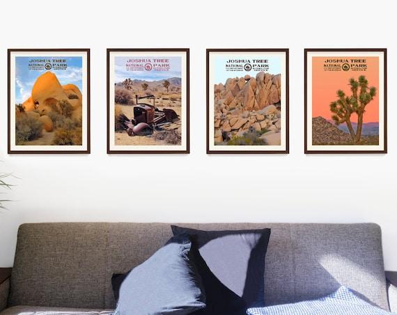 Joshua Tree National Park Poster, Joshua Tree Art, WPA Poster, National Park Wall Art, Desert Decor, Desert Home, California Home