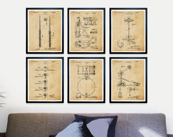 Drum Patent Posters - Drums - Drum Art - Drum Poster - Drum Patent - Drum Wall Art - Drummer Art - Drums Poster - Cymbal - Snare Drum Patent
