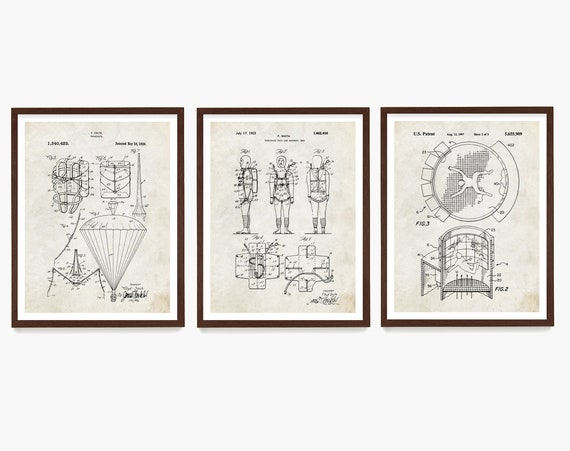 Skydiving Patent Poster, Skydiving Wall Art, Parachute Patent, Skydiver Gift, Paratrooper, Extreme Sports, Base Jumping