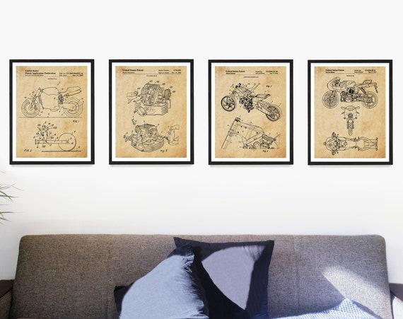 Ducati Patent Art, Ducati Poster, Ducati Motorcycle Patent, Motorcycle Poster, Motorcycle Art, Motorcycle Wall Art, Bike