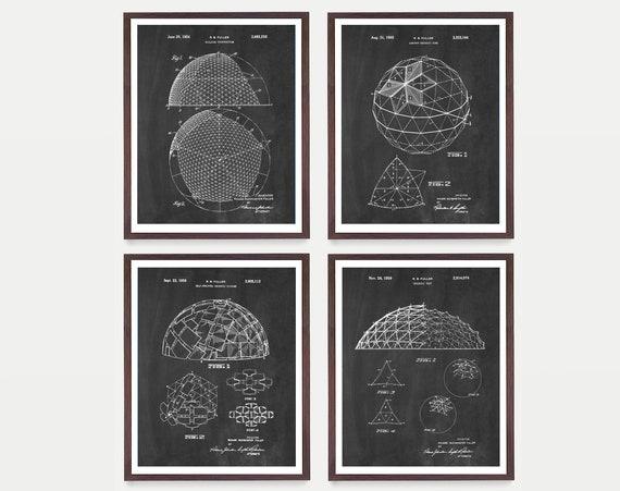 Buckminster Fuller Patent Art - Geodesic Dome - Geodesic Dome Patent - Buckminster Fuller Art - Buckminster Fuller Poster - Architecture