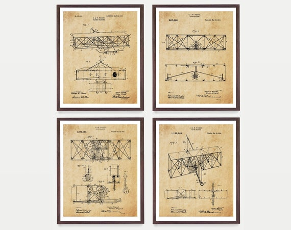 Wright Brothers Patent Art, Wright Brothers Poster, Airplane Art, Airplane Poster, Airplane Patent, Aviation, Wright Brothers Plane, Pilot