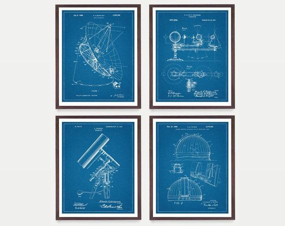 Astronomy Patent Art - Astronomy Poster - Space Patent Posters - NASA Art - NASA Patent - NASA Poster - Space Art - Aliens - Telescope Art