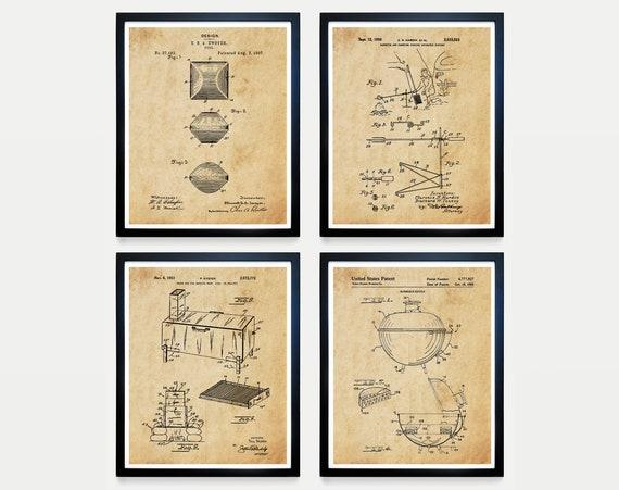 BBQ Patent Art, BBQ Wall Art, BBQ Poster, Barbecue Patent, Grill Patent, Grill Poster, Smoker, Barbecue Poster, Cooking Art, Cook, Bbq Gift