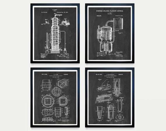 Whiskey - Inventions of Whiskey - Whiskey Patent - Distillery - Whiskey Poster - Whiskey Art - Whiskey Barrel - Whiskey Barrel Art - Liqour
