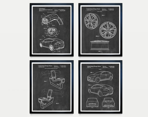 Tesla Car Patent - Tesla Patent - Tesla Electric Car - Model X - Electric Car Patent - Tesla Poster - Car Poster - Elon Musk  Tesla Wall Art