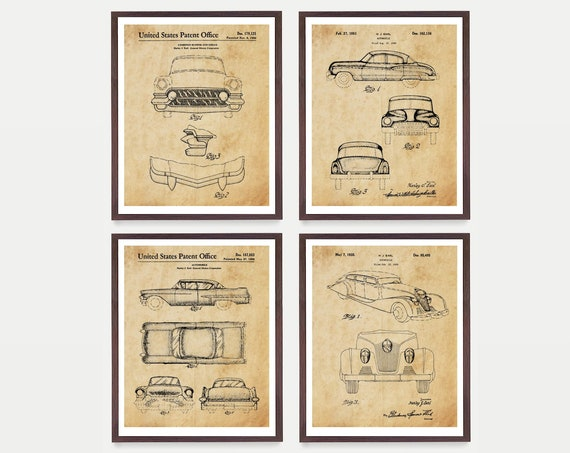 Buick Car Patent Posters - Buick Patent - Buick Art - Vintage Buick - Antique Car - Automobile - Buick Poster - Buick Decor - Car Art - Cars