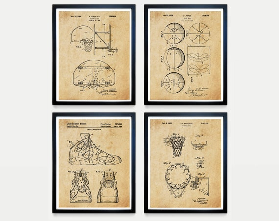 Basketball Poster - Basketball Patent Art - Basketball - Basketball Hoop - Basketball Wall Art  Air Jordan - Nike Patent - Basketball Poster