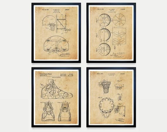 Basketball Poster, Basketball Patent Art, Basketball Hoop, Basketball Wall Art,  Air Jordan, Nike Patent, Basketball Gift, Boys Room Poster
