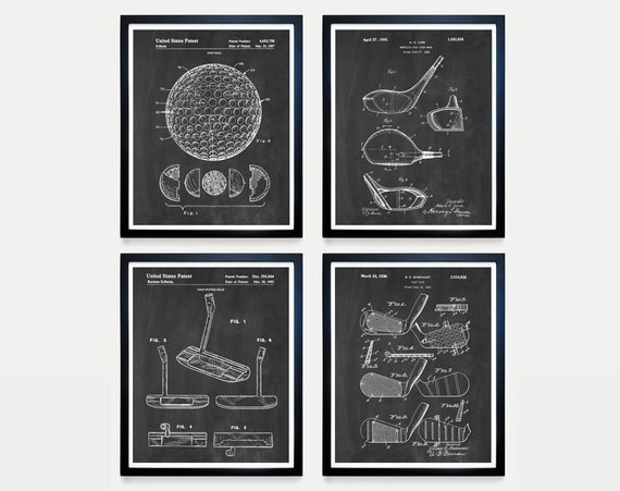 Golf Patent Art, Golf Poster, Golf Art, Golf Clubs, Golf Ball, Golf Bag, Golf Wall Art, Golf Patent, Golf Gift, Dad Gift, Putter
