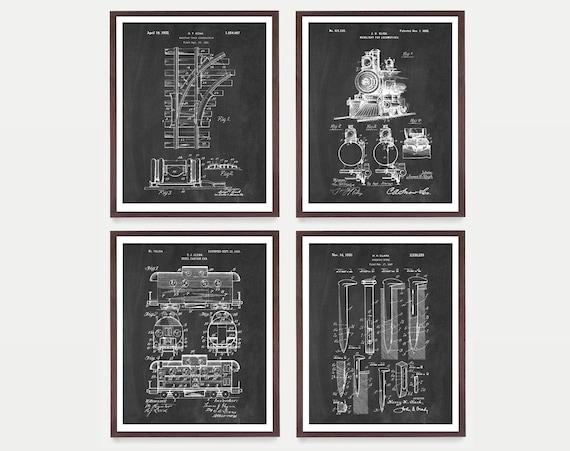 Railroad Art - Train Poster - Inventions of the Railroad - Caboose - Locomotive - Track - Rail Car - Vintage Train - Antique Train - Rail
