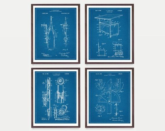 Architecture  Patent - Architect Art - Architect Poster - Architect Decor - Architecture - Architecture Student - Draft - Compass - Math Art