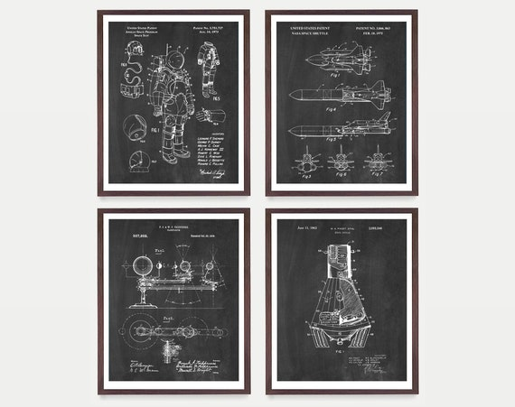 Space Patent Posters - NASA Art - NASA Patent - NASA Poster - Space Shuttle Poster - Space Shuttle Art - Space Suit - Mars Art - Outer Space