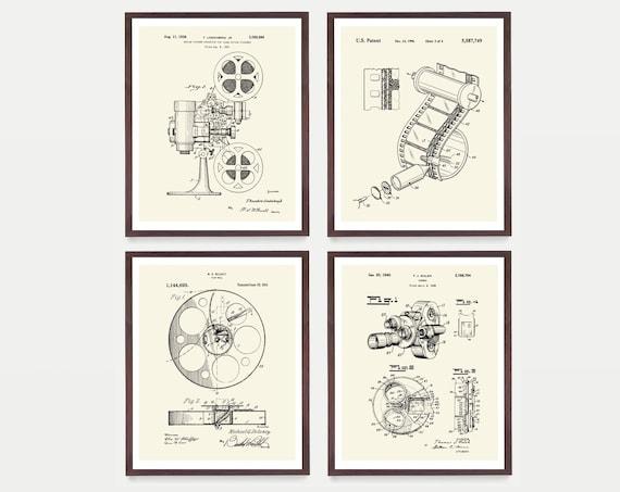 Cinema Patent Collection - Movie Patent - Movie Poster - Film Camera - Movie Projector - Film Reel - Film Patent - Camera Patent Film Patent