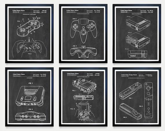 Nintendo Patent Art - Nintendo Poster - Nintendo NES - Nintendo 64 - Nintendo WI - Gamer - Gaming Poster - Nintendo Art - Nintendo Wall Art