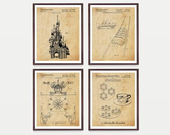 Disneyland - Disneyland Art - Disneyland Patent - Walt Disney - Magic Kingdom - Cinderella - Disney Patent - Walt Disney Patent - Disney Art