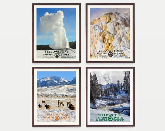 Yellowstone National Park Poster - Yellowstone Art - WPA Poster - WPA Art - WPA - National Park Poster - Yellowstone Wall Art - Geyser