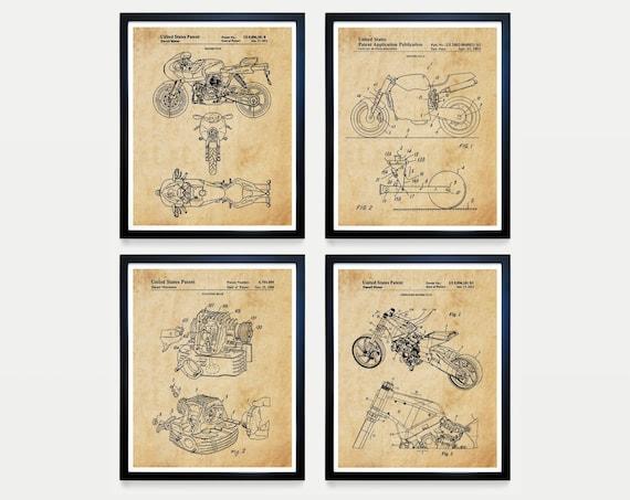 Ducati Patent Art - Ducati Poster - Ducati Motorcycle Patent - Motorcycle Poster - Motorcycle Art - Ducati Art - Motorcycle Wall Art - Bike