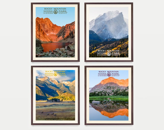 Rocky Mountain National Park Poster - Rocky Mountain Art - WPA Poster - WPA Art - WPA - National Park Poster - Rocky Mountains - Colorado