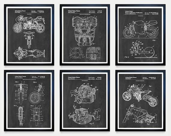 Ducati Patent Art, Ducati Poster, Ducati Art, Ducati Motorcycle, Motorcycle Art, Motorcycle Patent Art, Motorcycle Poster, Bike, Art