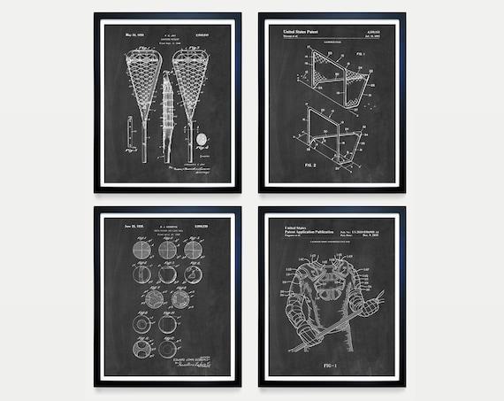 Lacrosse Patent Art - Lacrosse Art - Lacrosse Wall Art - Lacrosse Poster - Lacrosse Gift - Lacrosse Patent Print - Lacrosse Stick - Wall Art