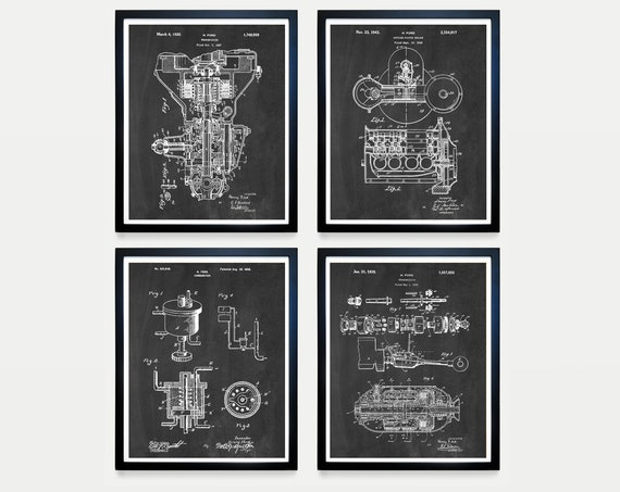 Ford Patent - Henry Ford Patent - Ford Motors - Ford Transmission Patent - Ford Poster - Ford Motors Art - Car Patent Motor Patent - Engine