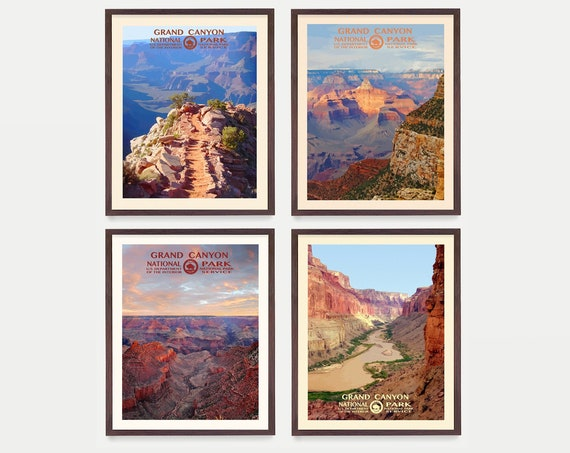 Grand Canyon National Park Poster - Grand Canyon Art - WPA Poster - WPA Art - WPA - National Park Poster - Grand Canyon Wall Art - Arizona